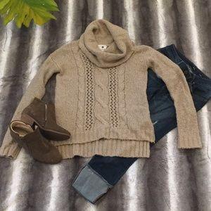 Tan Pieces Kensi Chip Sweater